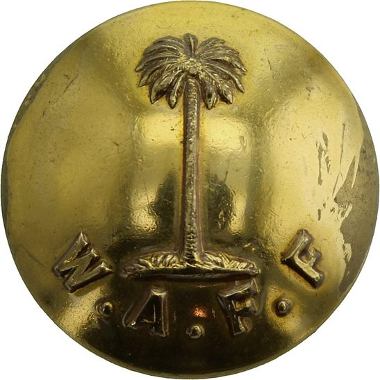 Royal West African Frontier Force RWAFF Royal West African Frontier Force RWAFF Tunic Button FIRST PATTERN WAFF- 23mm
