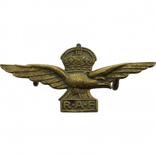 Royal Air Force RAF WW2 Royal Air Force RAF Side / Forage 1-Piece Cap Badge