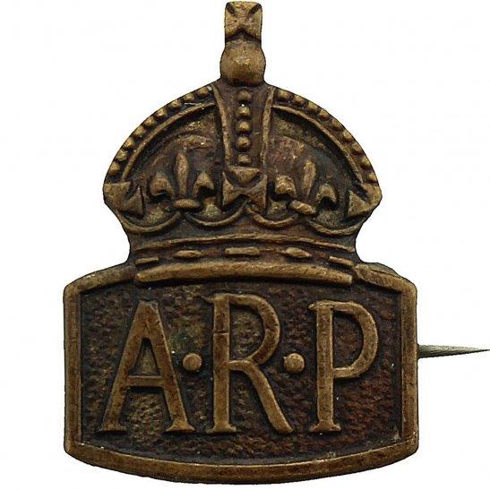 Air Raid Precautions ARP WW2 ARP Warden (Air Raid Precautions) SMALL Lapel Badge