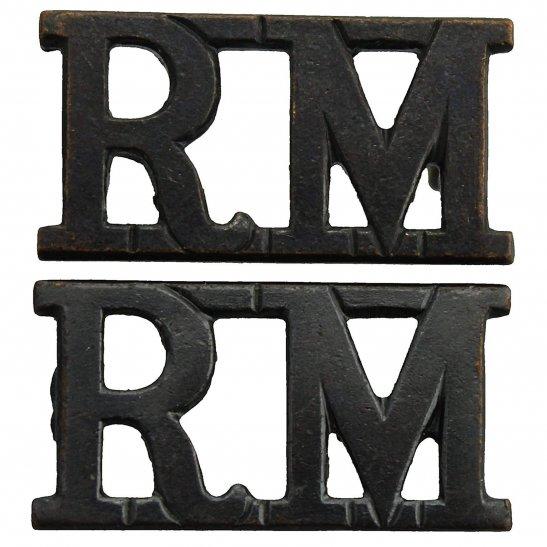 Royal Marines WW2 Royal Marines Corps RM Shoulder Title PAIR