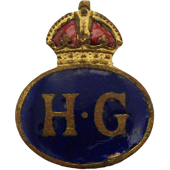 Home Guard WW2 Home Guard Servicemans Enamel HG Lapel Badge