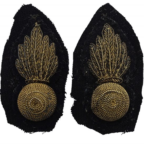 Royal Artillery Royal Artillery Regiment OFFICERS Bullion Collar Badge PAIR