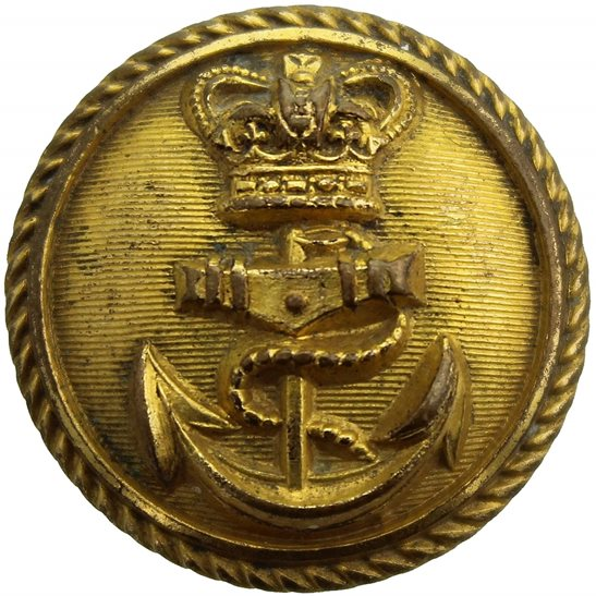 Royal Navy VICTORIAN Royal Navy British Naval Tunic Button - 23mm