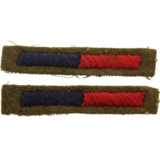 Royal Engineers WW2 Royal Engineers OR Royal Artillery Cloth Arm of Service Strips Stripes PAIR