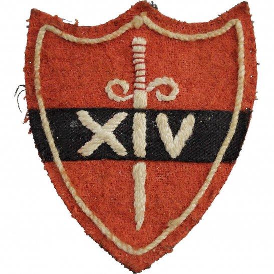 WW2 14th Fourteenth Army Cloth Formation Sign Patch Badge