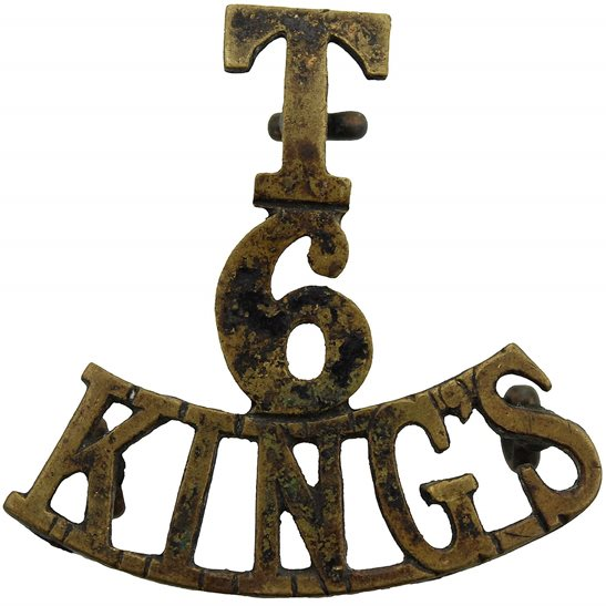 Kings Liverpool 6th Territorial Battalion, Kings Liverpool Regiment (King's) Shoulder Title