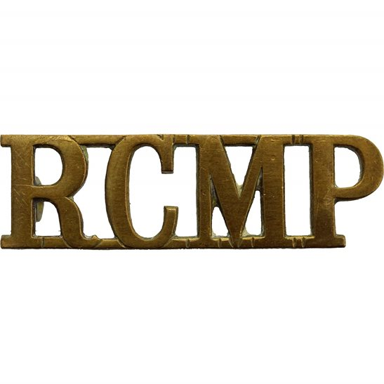 Royal Canadian Mounted Police RCMP Royal Canadian Mounted Police RCMP Shoulder Title