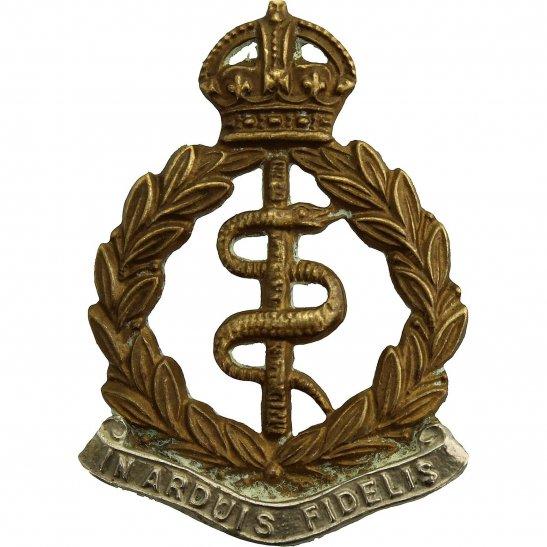 Royal Army Medical Corps RAMC WW2 Royal Army Medical Corps RAMC Bi-Metal Collar Badge