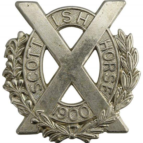Scottish Horse Scottish Horse Yeomanry Regiment Cap Badge