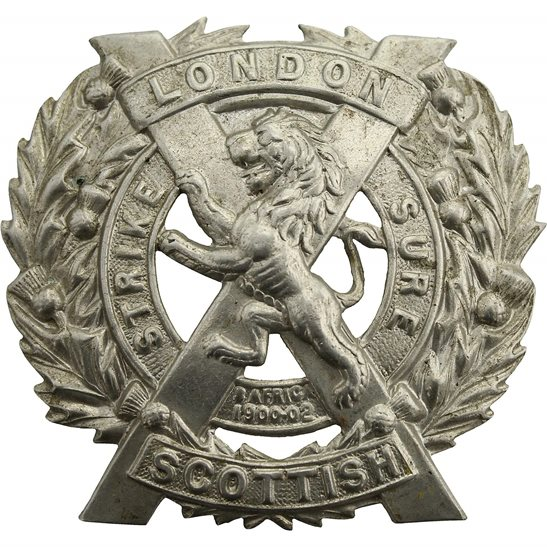 London Scottish 14th Battalion, The London Scottish Regiment Cap Badge