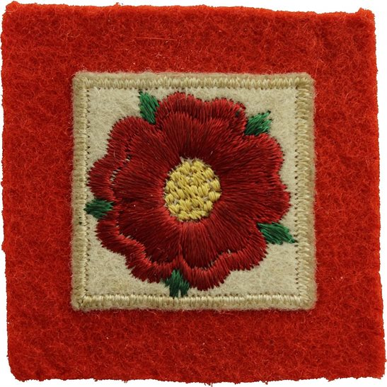 WW2 42nd Lancashire Division Cloth Formation Sign Patch Badge