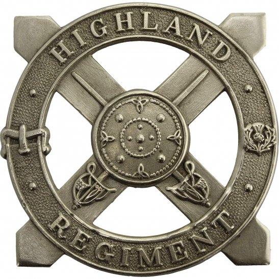 WW2 The Highland Regiment Scottish Cap Badge