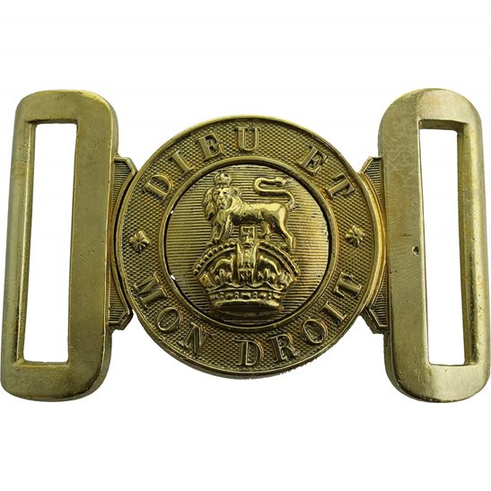 General Service WW1 / WW2 British Army Issued Infantry Interlocking Brass Stable Belt Buckle