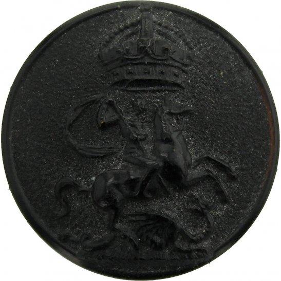 London Battalions 9th Battalion (Queen Victorias Rifles) ,County of London Regiment PLASTIC Button - 26mm
