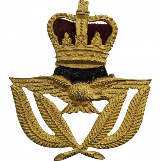 Royal Air Force RAF Royal Air Force RAF WARRANT OFFICERS Cap Badge - Queens Crown