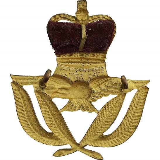 additional image for Royal Air Force RAF WARRANT OFFICERS Cap Badge - Queens Crown
