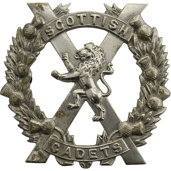 Officer Training Corps OTC Scottish Cadets Officers Training Corps School College OTC Cap Badge