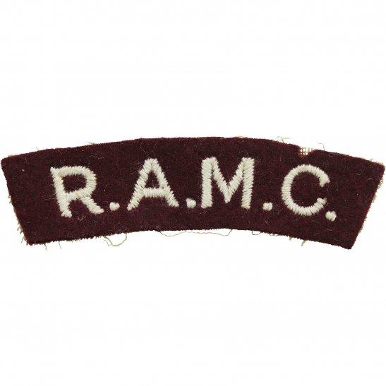 Royal Army Medical Corps RAMC Royal Army Medical Corps RAMC Cloth Shoulder Title Badge Flash