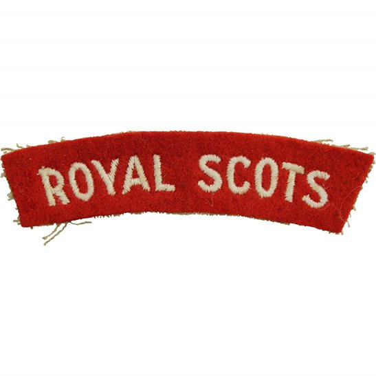 Royal Scots Royal Scots Regiment Scottish Cloth Shoulder Title Badge Flash