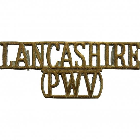 Lancashire Regiment Lancashire PWV (Prince of Wales's Volunteers) Regiment Shoulder Title