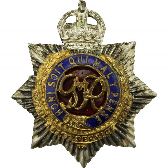Royal Army Service Corps RASC WW2 Royal Army Service Corps RASC OFFICERS Bi-Metal Collar Badge