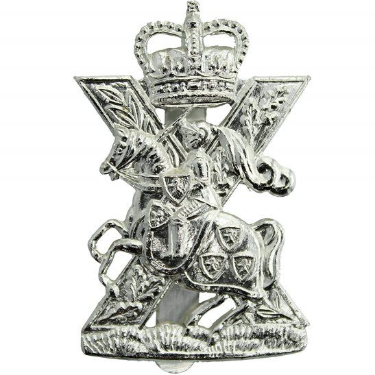 Fife and Forfar Yeomanry / Scottish Horse Regiment Staybrite Anodised Cap Badge - Staybright