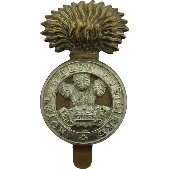 Royal Welsh Fusiliers WW1 Royal Welsh Fusiliers Regiment RWF Cap Badge - FIRST PATTERN