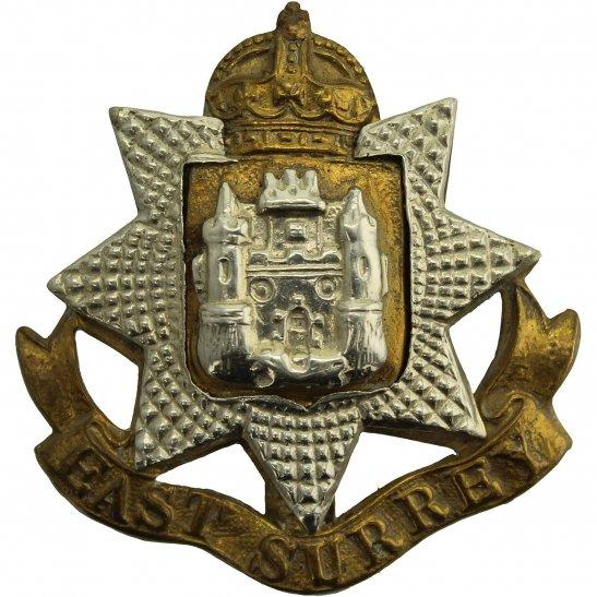 East Surrey WW2 East Surrey Regiment Cap Badge