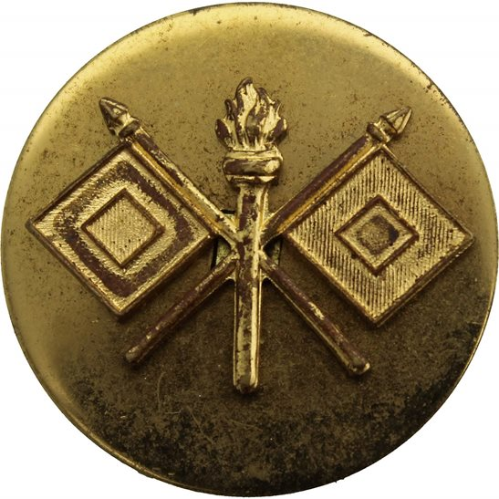 WW2 US Army WW2 United States US Army American SIGNALS CORPS Collar Badge Insignia - PIN STUD BACK