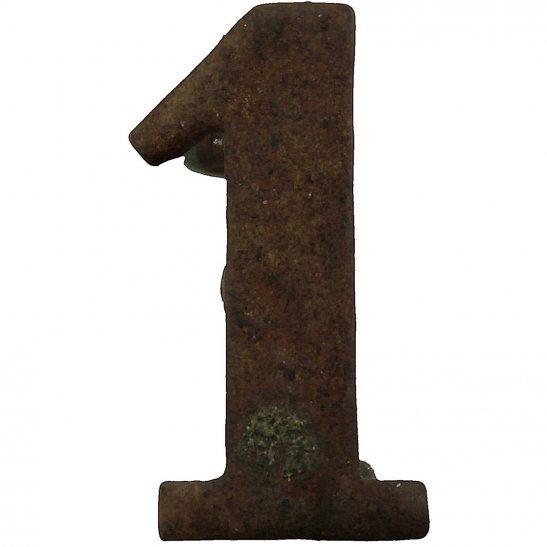 1st Territorial Battalion 1 Insignia Number Shoulder Title - Measures 20mm