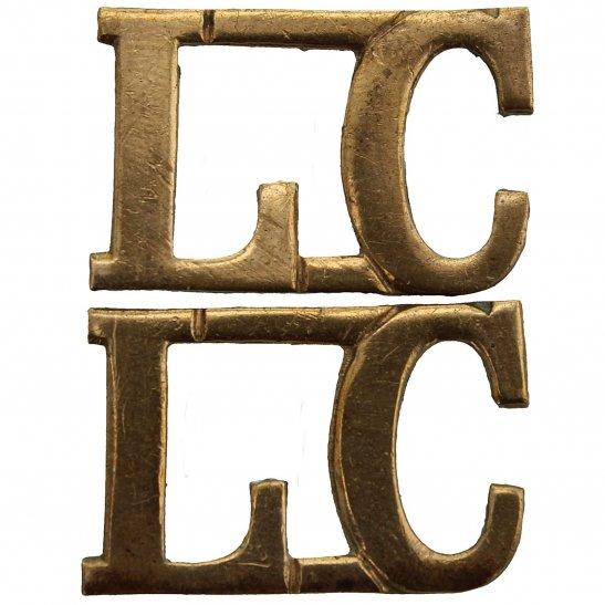 Labour Corps WW1 Labour Corps Shoulder Title PAIR