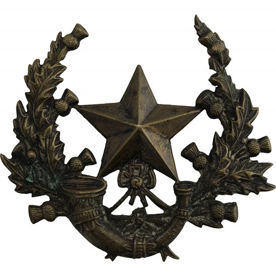 Scottish Rifles VICTORIAN Cameronians Scottish Rifles Regiment OFFICERS Glengarry Cap Badge 1881