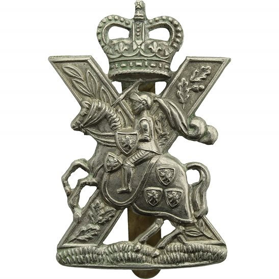 Fife and Forfar Yeomanry Fife and Forfar Yeomanry / Scottish Horse Regiment Cap Badge - Queens Crown