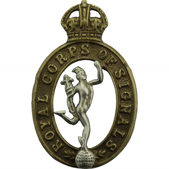 Royal Corps of Signals RCOS WW2 Royal Corps of Signals RCOS Collar Badge