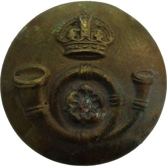 Kings Own Yorkshire Light Infantry KOYLI Kings Own Yorkshire Light Infantry KOYLI Regiment SMALL Tunic Button - 19mm