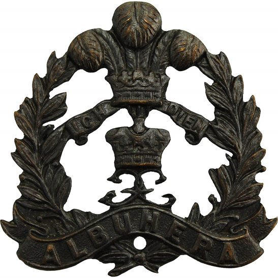 Middlesex Regiment Middlesex Regiment OFFICERS Bronze Officer's Collar Badge