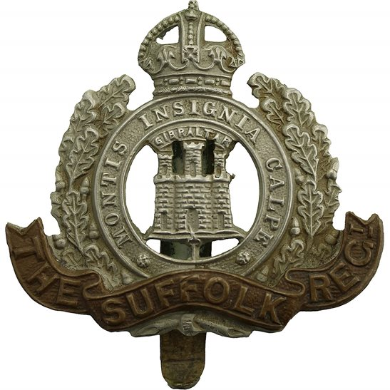 Suffolk Regiment WW1 Suffolk Regiment Cap Badge