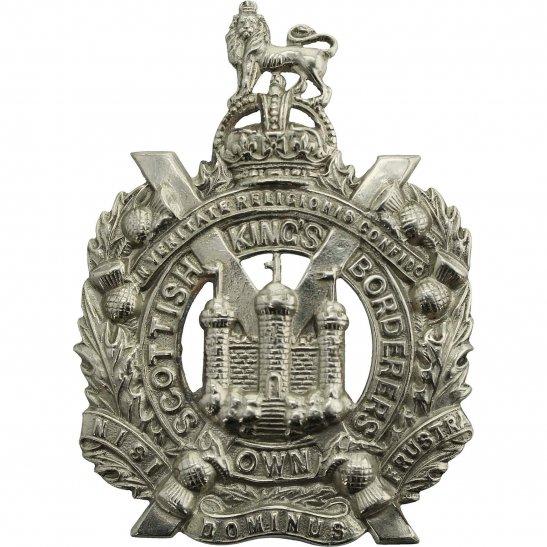 Kings Own Scottish Borderers WW2 Kings Own Scottish Borderers Regiment KOSB (King's) Cap Badge