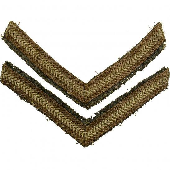 British Army Lance Corporals Cloth Chevron Insignia Rank Stripes PAIR