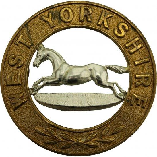 West Yorkshire VICTORIAN / EDWARDIAN West Yorkshire Regiment Helmet Plate Centre Cap Badge