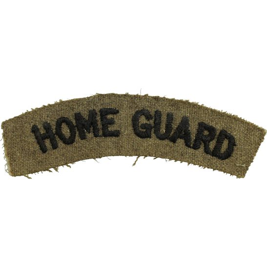 Home Guard WW2 Home Guard Unit Cloth Shoulder Title Badge Flash