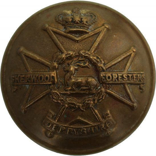 Notts and Derby VICTORIAN Notts and Derby (Sherwood Foresters) Regiment Tunic Button - 25mm