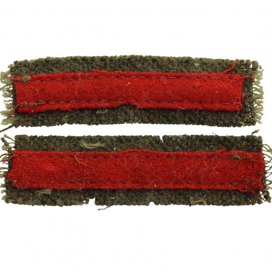 Royal Military Police RMP WW2 Royal Military Police RMP Cloth Arm of Service Stripes Strips PAIR