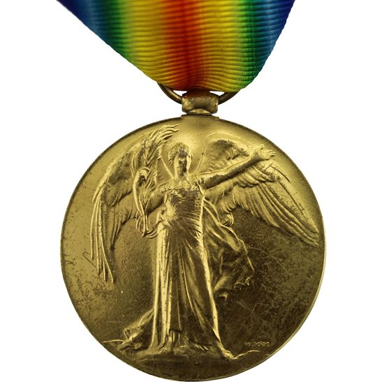 WW1 ERASED Blank Spare Gap-Filler Victory Medal
