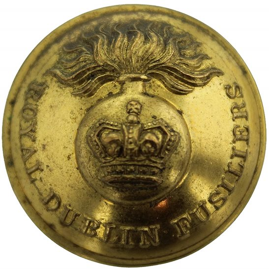 Royal Dublin Fusiliers VICTORIAN Royal Dublin Fusiliers Tunic Button - 26mm