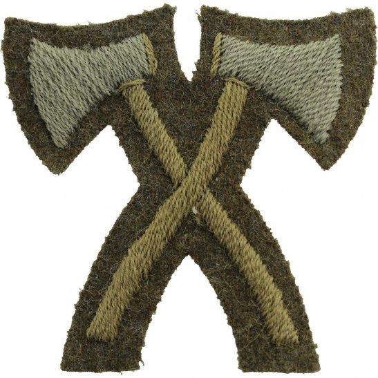 Trade Badge Assualt Pioneer Rank, Grenadier Guards Regiment Cloth Proficiency Arm / Sleeve Trade Badge
