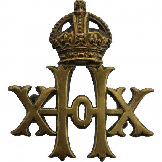 20th Hussars The 20th Hussars Regiment Collar Badge