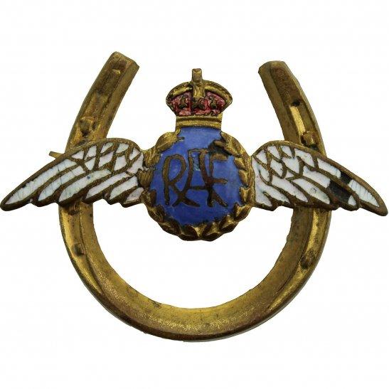 Royal Air Force RAF WW2 Royal Air Force RAF Wings HORSE SHOE Sweetheart Brooch