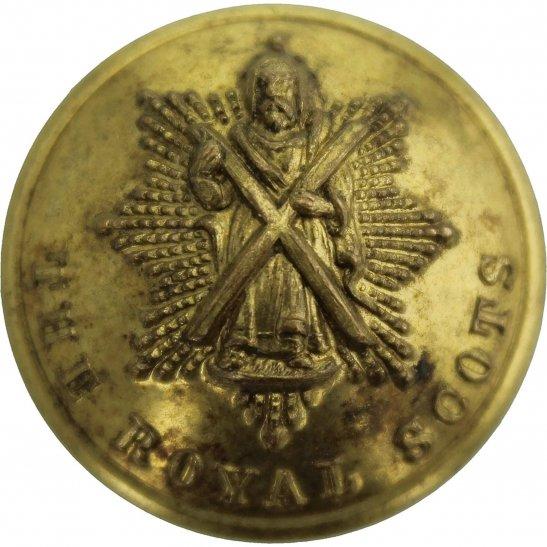 Royal Scots The Royal Scots Regiment Scottish Tunic Button - 26mm