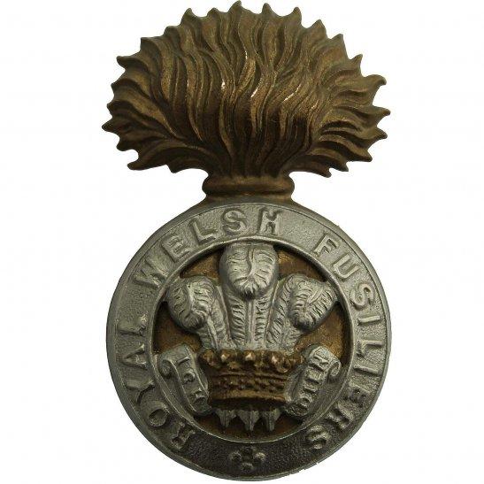 Royal Welsh Fusiliers EDWARDIAN / VICTORIAN Royal Welsh Fusiliers Regiment Cap Badge - LUG VERSION
